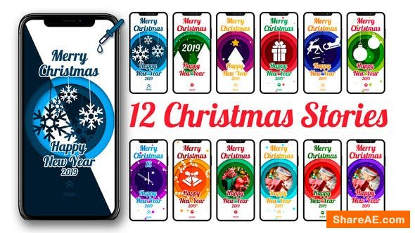 Videohive 12 Christmas Stories