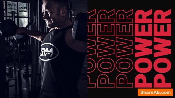 Videohive Workout Power Intro
