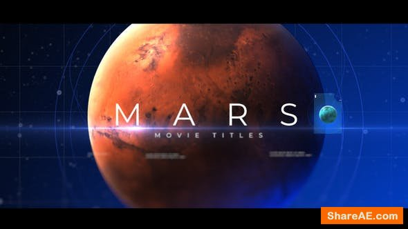 Videohive Mars Movie Titles