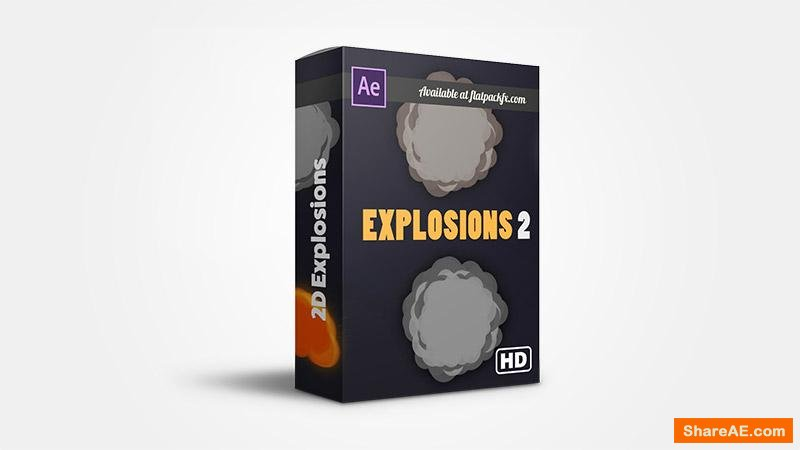 Flatpackfx 2D Explosion Pack - After Effects