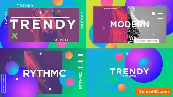 Videohive Trendy Typo Opener 24917748