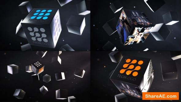Videohive Abstract Business Cubes Logo Reveals