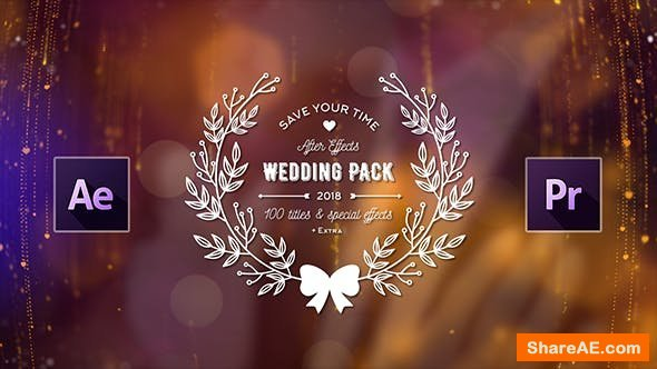 Videohive Wedding Titles Pack - 100 Titles & Special Effects
