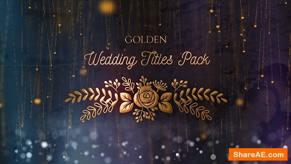 Videohive Golden Wedding Titles Pack