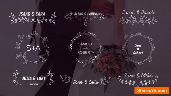 Videohive Wedding Titles 21673746