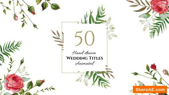 Videohive Floral Wedding Titles