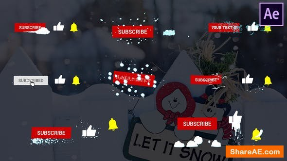 Videohive Snow Subscribes