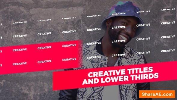 Videohive Creative Titles 21658447