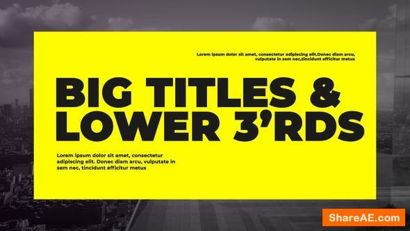 Videohive Corporate Big Titles