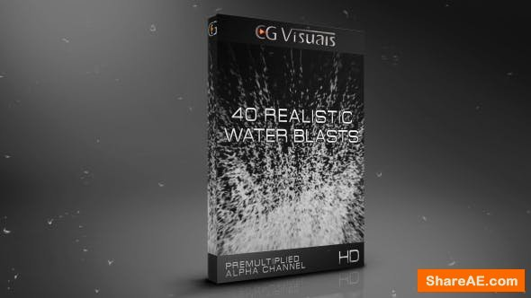 Videohive Water Blasts Pack - Motion Graphics