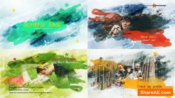 Videohive Scribble Show Title