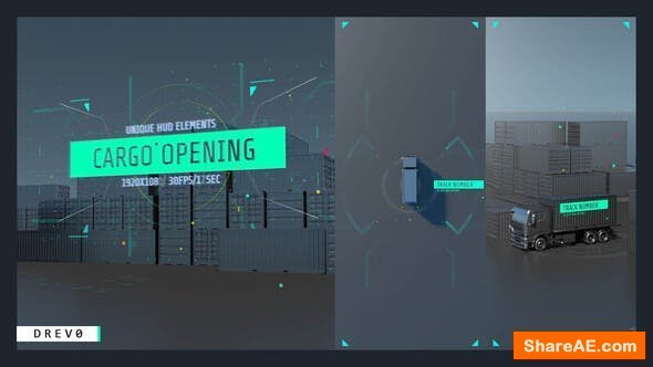 Videohive Cargo Opening