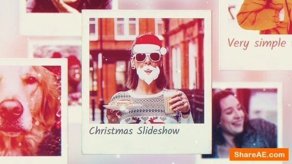Videohive Christmas Photo Frames Slideshow