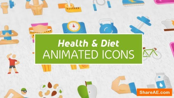 Videohive Health & Diet Modern Flat Animated Icons