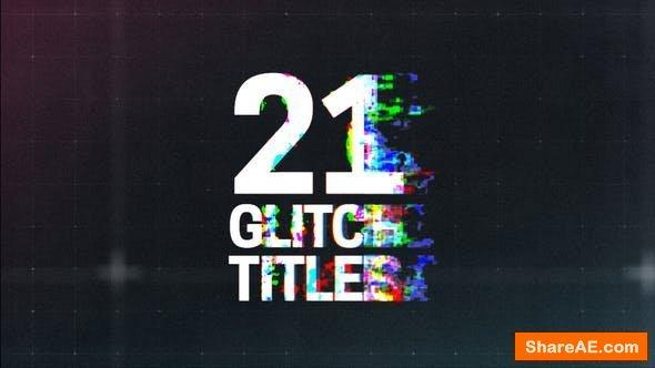 Videohive Glitch Titles 21698901