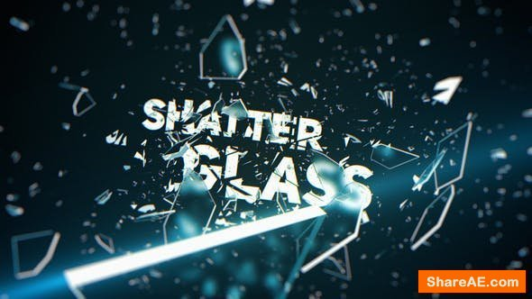 Videohive Shatter Glass Trailer