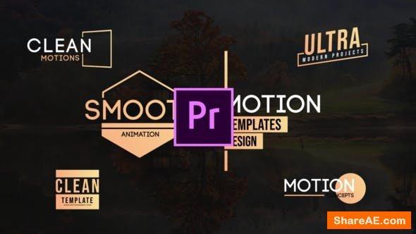 Videohive Motion Titles -MOGRT - Premiere Pro