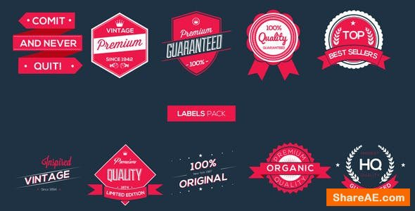 Videohive Labels Pack
