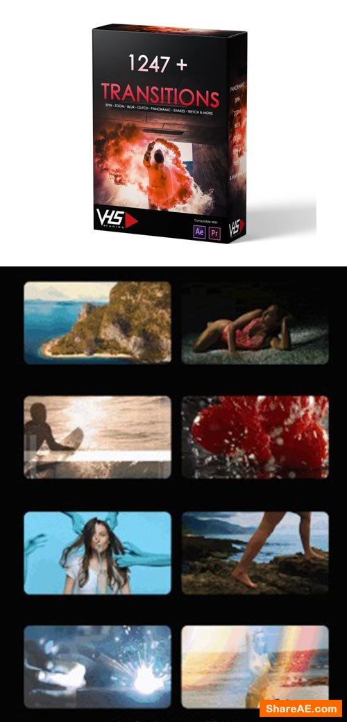 VHS 1247+ Transitions Package - VHS Studio