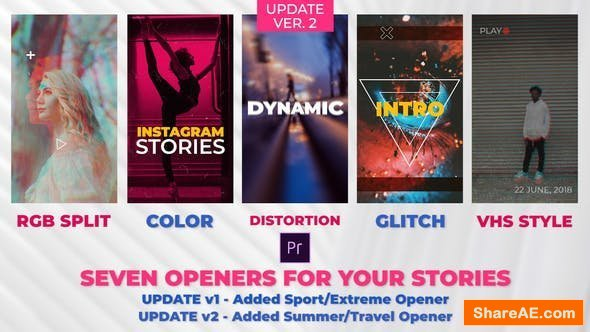 Videohive Stories Openers Pack - Premiere Pro