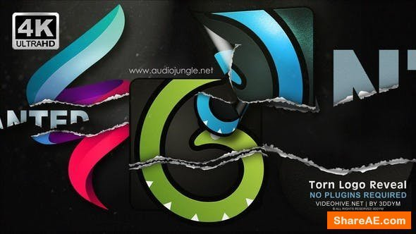 Videohive Torn Logo Reveal