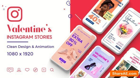 Videohive Valentine Instagram Stories