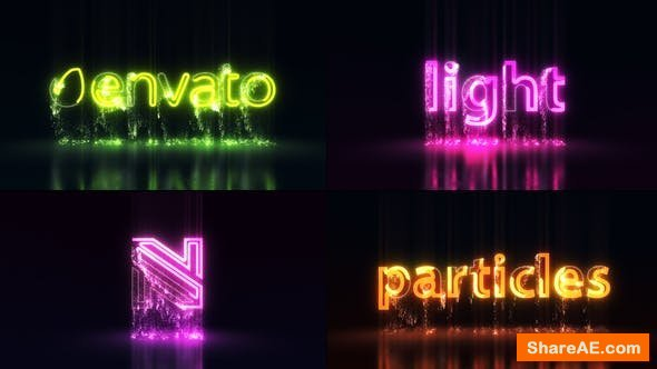 Videohive Light Particles Logo | Titles