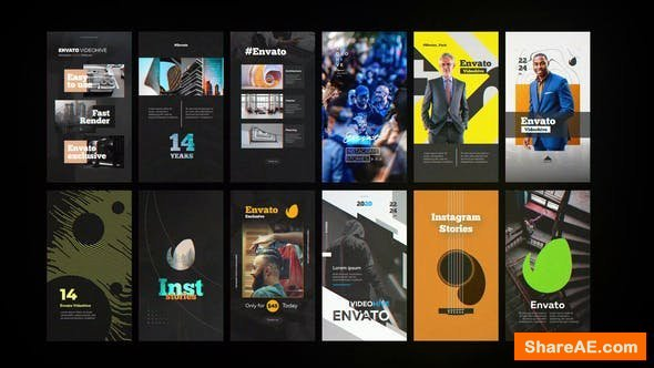 Videohive 12 Instagram Stories