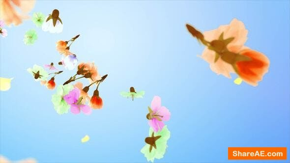 Videohive Flowers and Petals Logo