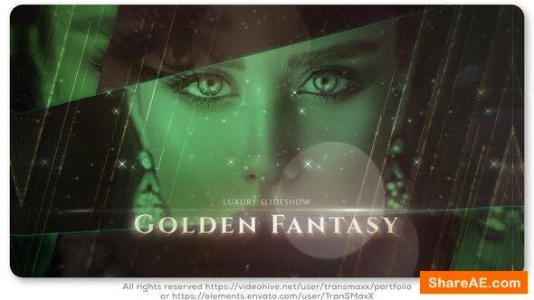 Videohive Golden Fantasy Luxury Slideshow