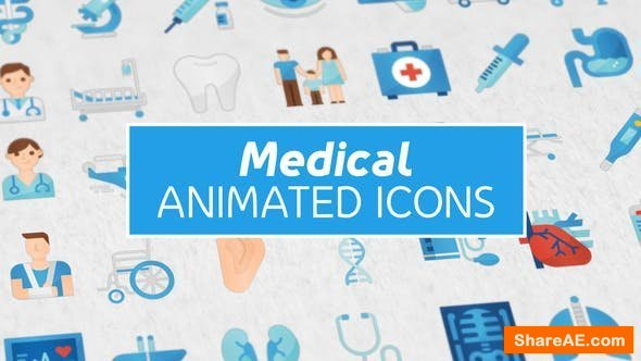 Videohive 36 Medical Animated Icons