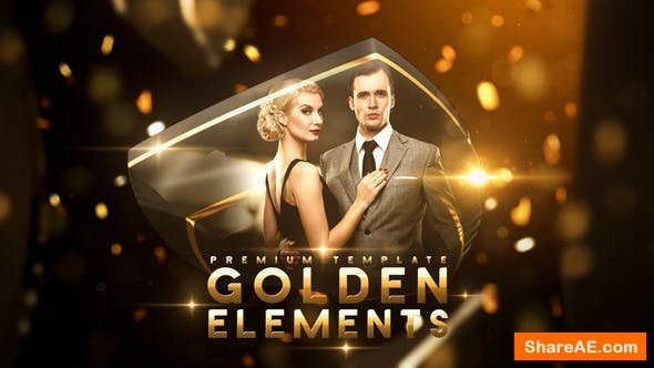 Videohive Golden Elements