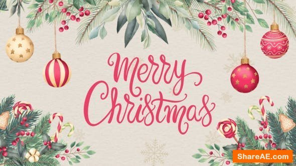Videohive Christmas Card Opener