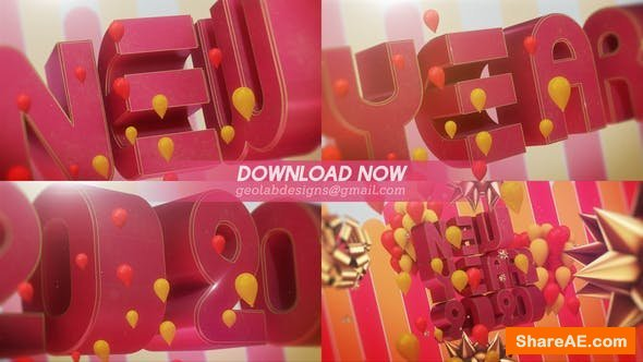 Videohive Happy New Year l New Year 2020 l New Year Celebration Template