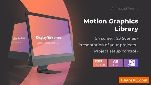 Videohive Animated Screen Website Mockup Promo - iMac Pro Mockup Web Presentation