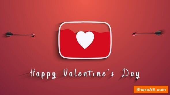 Videohive Valentine's Day (Youtube Logo)
