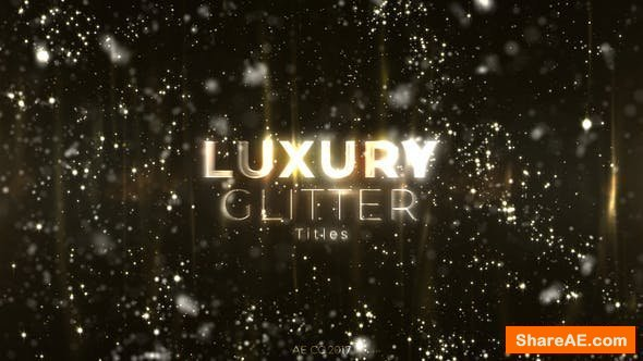 Videohive Luxury Glitter Titles