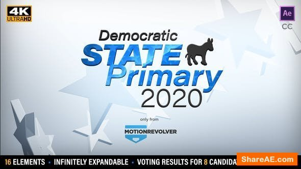 Videohive State Primary or Caucus Election Results Kit