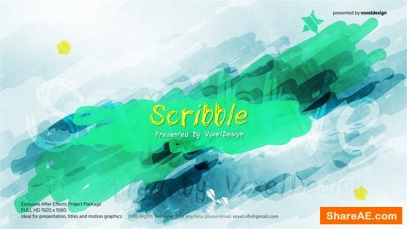 Videohive Scribble Show Opener