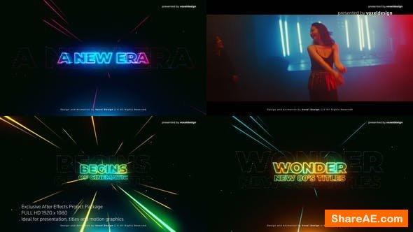 Videohive Wonder 80's Cinematic Titles