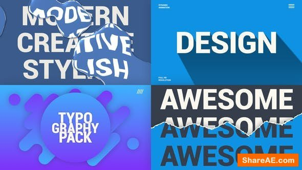 Videohive Creative Typography Pack 25631260