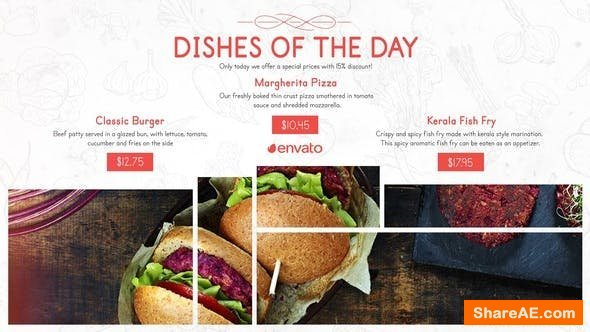 Videohive Restaurant Menu Food Promo