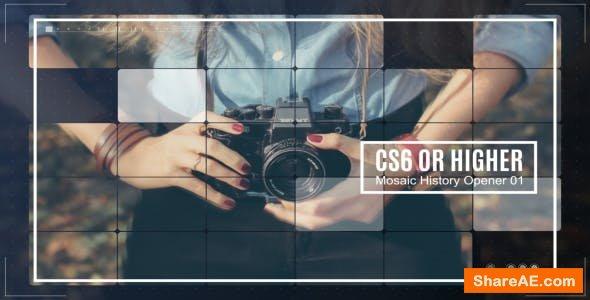 Videohive Mosaic History Opener