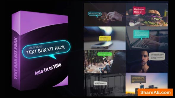 Videohive Text Box Kit Pack