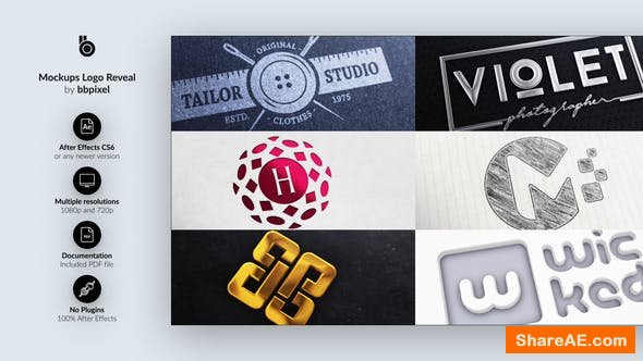 Videohive Mockups Logo Reveal