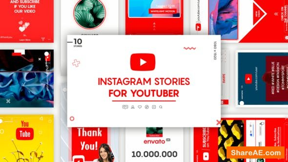 Videohive Instagram Stories for YouTuber 25557565