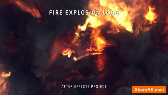 Videohive Fire Explosion Logo