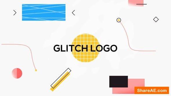 Videohive Shape Glitch Logo Reveal