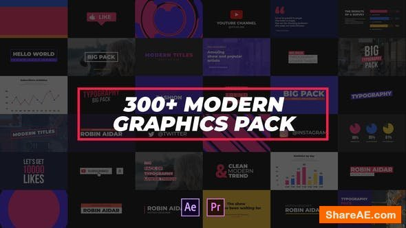 Videohive 300+ Modern Graphics Pack