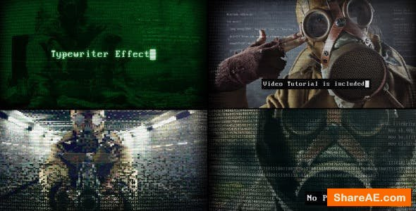 Videohive Retro Terminal - Glitch Trailer
